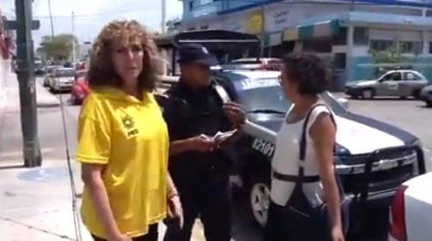 Nuevo video de la #LadyDelSenado contra un policía