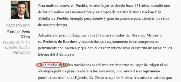 Enrique Peña Nieto no sabe cuándo fue la Batalla de Puebla