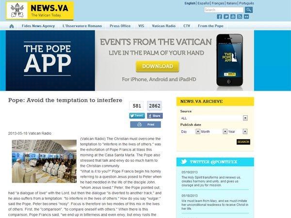 Cómo es Missio, la app del Vaticano