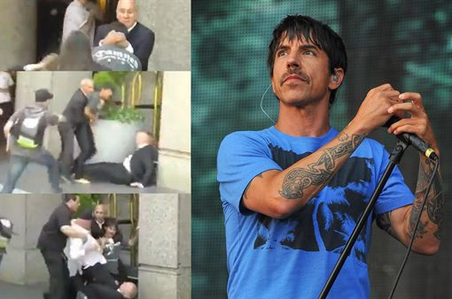 Video: Anthony Kiedis a las piñas con guardaespaldas de Rolling Stones