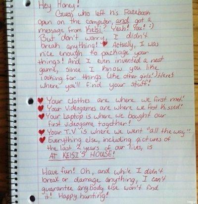 Propone insólito juego a su pareja infiel