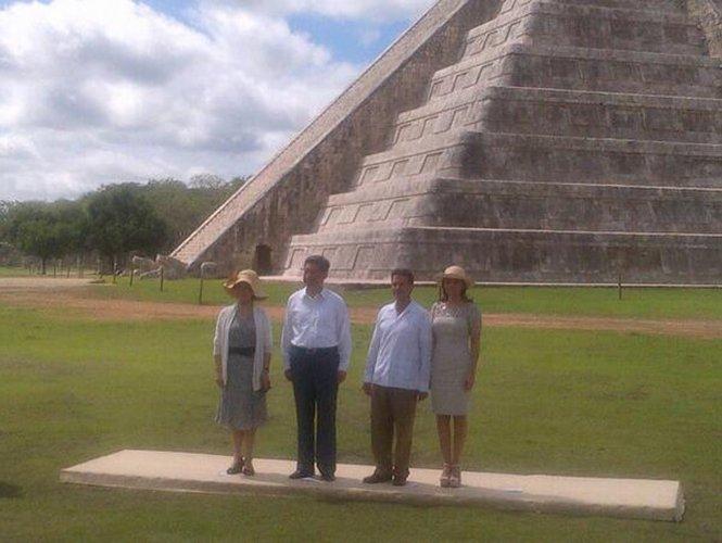México y China pactan amistad en Chichén Itzá