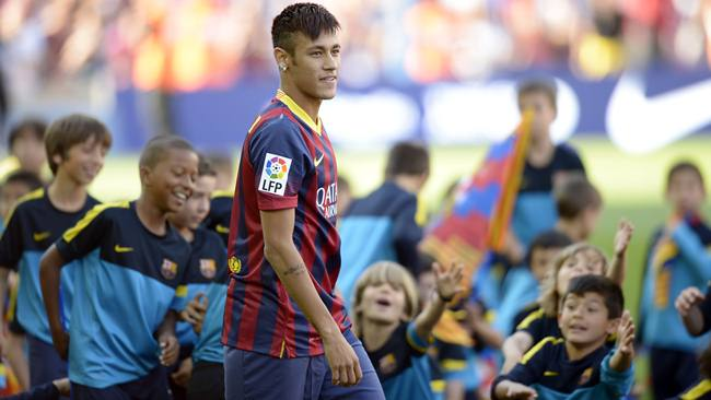 Neymar y su camiseta del Barcelona