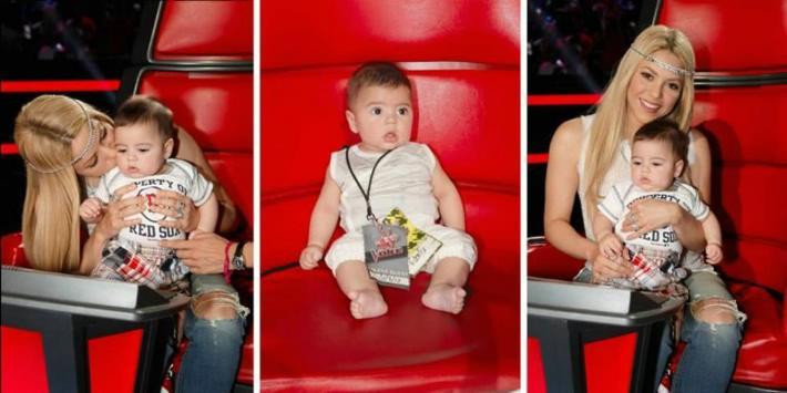 Shakira y su hijo Milan juntos en The Voice - Fotos
