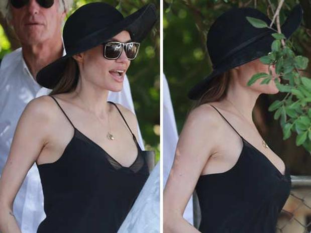 El nuevo escote de Angelina Jolie tras la mastectomía