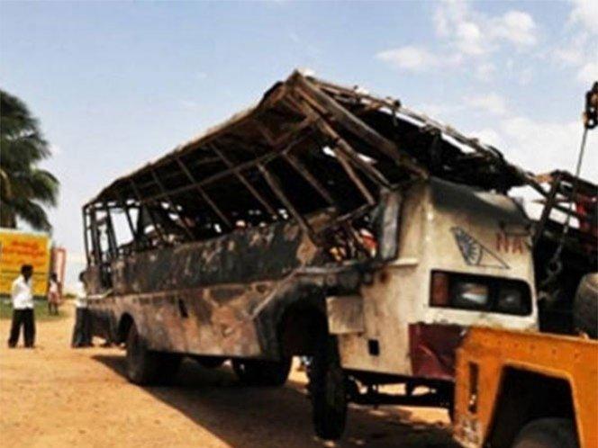 Mueren diez niños en un accidente vial