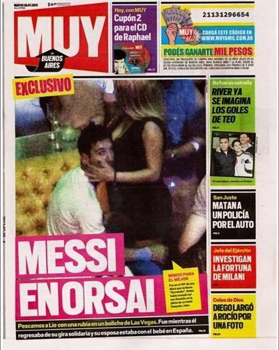 La Pulga Las Vegas >> Foto escándalo: Lionel Messi con stripper en Las Vegas