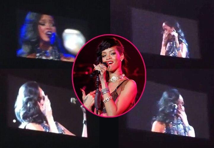 Video: Rihanna rompe a llorar en pleno recital
