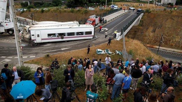 Detienen al chofer del tren por accidente en España