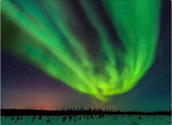 ¿Por qué el color de las auroras boreales es verde?
