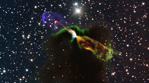 Imperdible: Violento nacimiento de una estrella