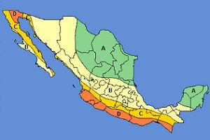 Zonas de México con menos movimientos sísmicos