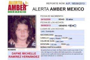 Alerta Amber: desaparece niña al conocer a hombre por Facebook
