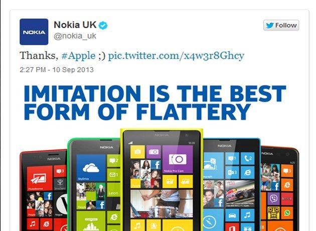La burla de Nokia a Apple a través de Twitter - Foto