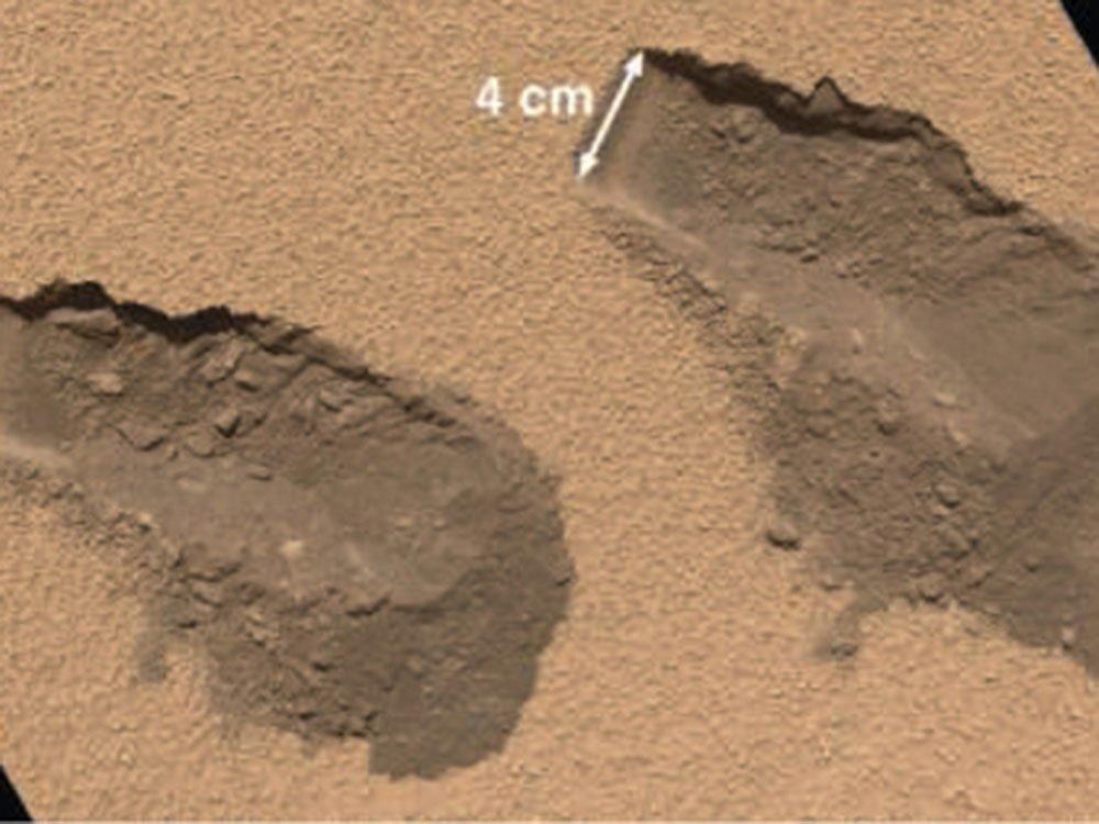 El Curiosity encuentra agua en Marte