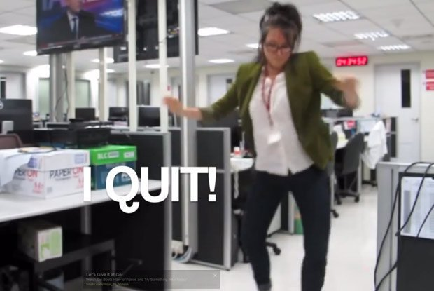 Video: de forma insólita renuncia a su trabajo