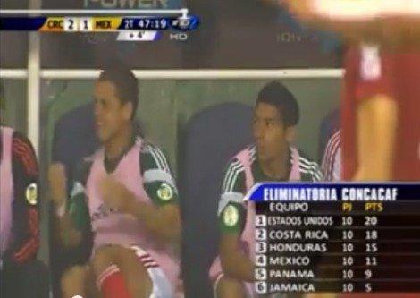 Video: Así celebra el Chicharito Hernández los goles de Estados Unidos