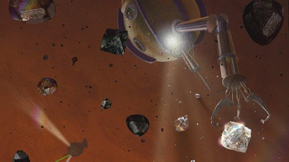 Planetas del sistema solar propicios para la creación de diamantes