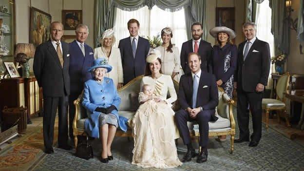 Foto histórica de la familia real inglesa