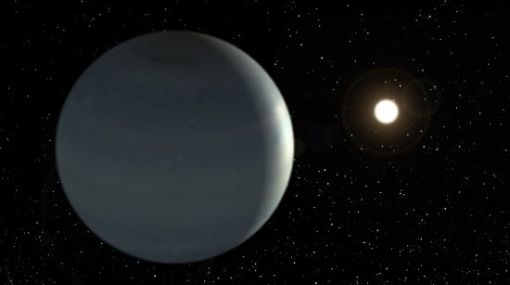 Hallan un sistema solar de siete planetas