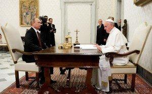 Vladimir Putin reunido con el Papa Francisco