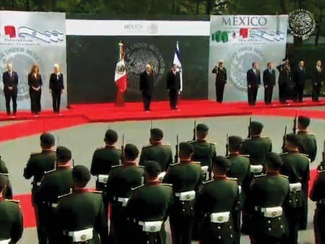 Peña Nieto recibe a Shimon Peres, presidente de Israel