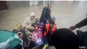 40.000 evacuados en Gaza por mal tiempo