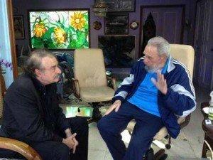 Reaparece Fidel Castro con el periodista Ignacio Ramonet - Fotos