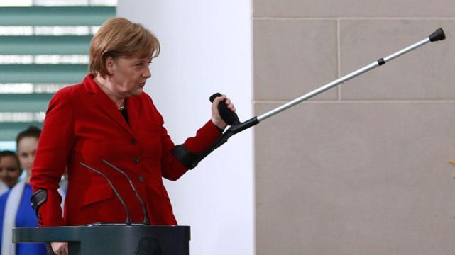 Angela Merkel se fractura la cadera esquiando