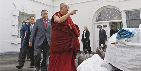 China furiosa con Obama por recibir al Dalai Lama