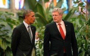 Obama y Harper apuestan cervezas por Sochi